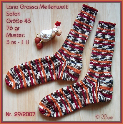 Safari-Socken rot-orange
