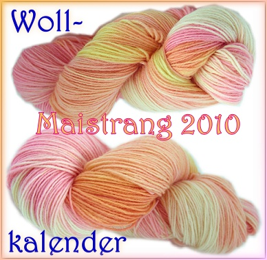 Wollkalender_Maistrang in Rosa-Orange-Gelb